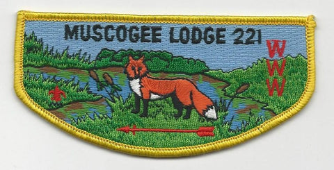 OA Lodge 221 Muscogee S12 Flap Indian Waters Council [SMV521]