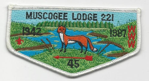 OA Lodge 221 Muscogee S17 Flap Indian Waters Council [SMV526]