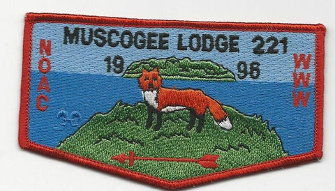 OA Lodge 221 Muscogee S21 Flap Indian Waters Council [SMV532]