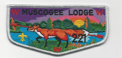 OA Lodge 221 Muscogee S19c Flap Indian Waters Council [SMV529]