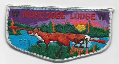 OA Lodge 221 Muscogee S23 Flap Indian Waters Council [SMV534]