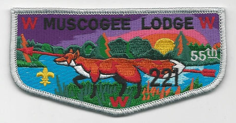 OA Lodge 221 Muscogee S22 Flap Indian Waters Council [SMV533]