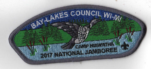 2017 National Scout Jamboree Bay-Lakes Council WI-MI Grey [C3146] - Scout Patch HQ