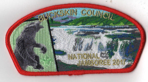 2017 National Scout Jamboree Buckskin  Bear JSP Red [FB255]