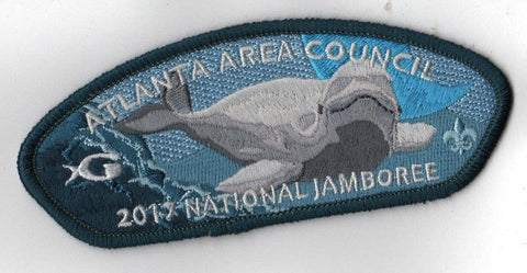 2017 National Scout Jamboree Atlanta Area Beluga Whale Dark Green JSP [C3138] - Scout Patch HQ