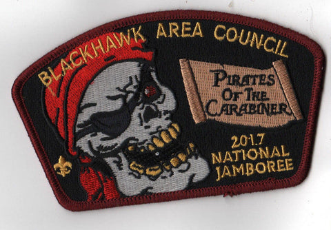 2017 National Scout Jamboree Blackhawk Area Council Pirates JSP [C3151] - Scout Patch HQ