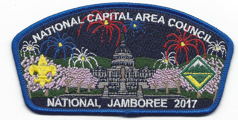2017 National Scout Jamboree National Capital Area Council Blue Border JSP - Scout Patch HQ