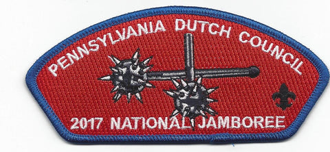 2017 National Scout Jamboree Pennsylvania Dutch Council Blue Border JSP - Scout Patch HQ