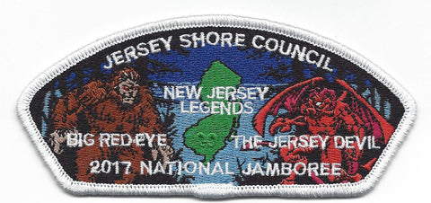 2017 National Scout Jamboree Jersey Shore Council White Border JSP - Scout Patch HQ