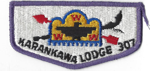 OA Lodge # 307 Karankawa Flap Clothback Pre-fdl South Texas  [CAR320]