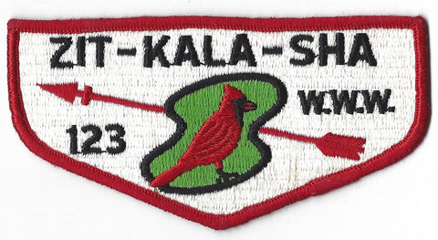 OA Lodge # 123 Zit-Kala-Sha Flap Clothback Pre-fdl Merged 1995 Old Kentucky Home Council