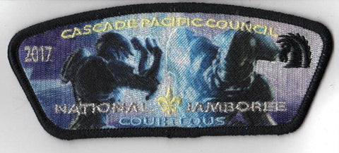 2017 National Scout Jamboree Cascade Pacific JSP HALO 'Courteous' Blue [C3176] - Scout Patch HQ