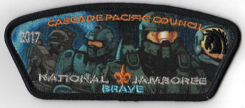 2017 National Scout Jamboree Cascade Pacific JSP HALO 'Brave' Blue [C3178] - Scout Patch HQ