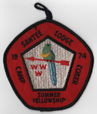 "#116 Santee Lodge 1974 Summer Fellowship ""Big Red"" [CC190]"