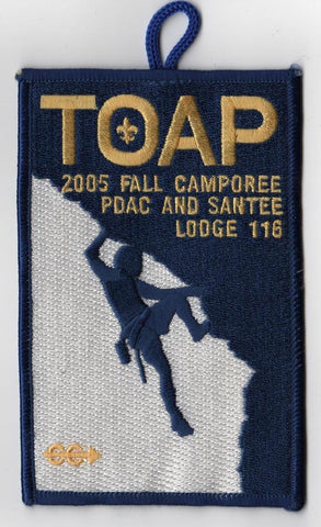 #116 Santee Lodge 2005 Fall Camporee TOAP - Scout Patch HQ