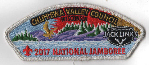 2017 National Scout Jamboree Chippewa Valley Council JSP Lake White [C3179] - Scout Patch HQ