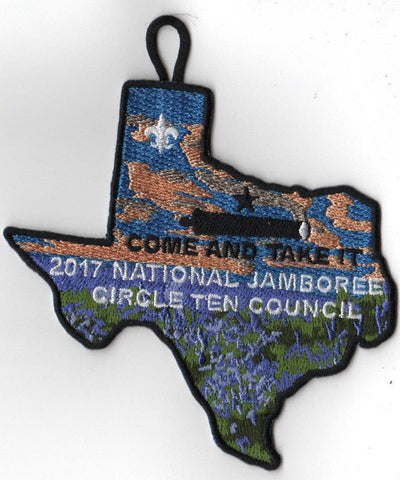 2017 National Scout Jamboree Circle Ten Council JSP Come and Take It [C3180] - Scout Patch HQ