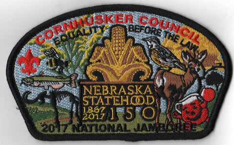 2017 National Scout Jamboree Cornhusker Council JSP Neb Statehood Black [C3183] - Scout Patch HQ