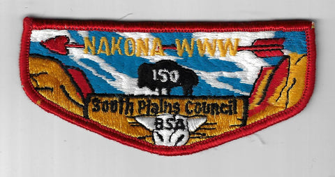 OA 150 Nakona S6 WWW Flap RED Bdr. South Plains TX [FBL-533]
