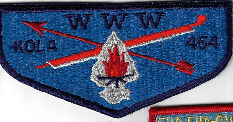 OA Lodge 464 Kola S3 Flap Longs Peak Council Greeley, CO [FBLCA123]