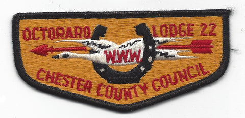 OA 22 Octoraro WWW Flap BLACK Bdr. Chester County PA [FBLTX-135]