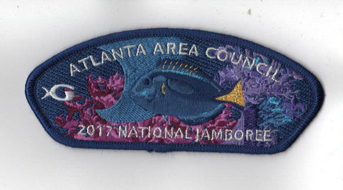 2017 National Scout Jamboree Atlanta Area GA Aquarium Fish JSP [C3143] - Scout Patch HQ