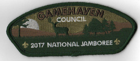 2017 National Scout Jamboree Gamehaven Council JSP Woods Deer Green [C3160] - Scout Patch HQ