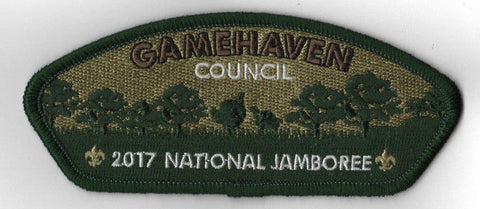 2017 National Scout Jamboree Gamehaven Council JSP Woods Trees Green [C3161] - Scout Patch HQ