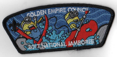 2017 National Scout Jamboree Golden Empire JSP Minion Whitewater Black [C3165] - Scout Patch HQ
