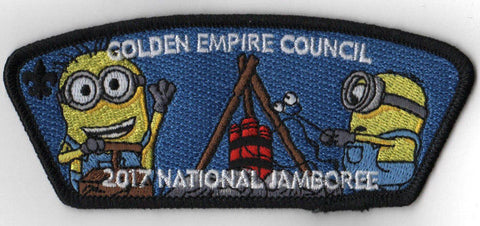 2017 National Scout Jamboree Golden Empire JSP Minion TNT Black [C3166] - Scout Patch HQ