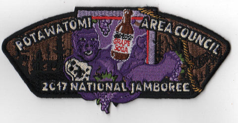 2017 National Scout Jamboree Potawatomi Area  Grape Ape JSP [FB223]