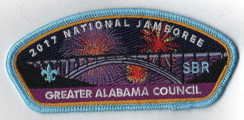2017 National Scout Jamboree Greater Alabama Council JSP Bridge Blue [C3169] - Scout Patch HQ