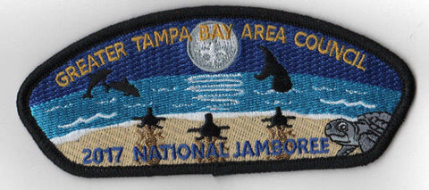 2017 National Scout Jamboree Greater Tampa Bay Area JSP Beach Black [C3162] - Scout Patch HQ