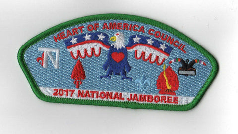 2017 National Scout Jamboree Heart of America Council Green Border JSP [C3153] - Scout Patch HQ
