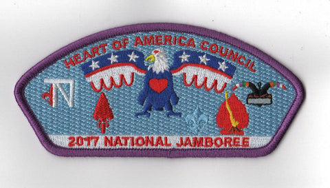 2017 National Scout Jamboree Heart of America Council Purple Border JSP [C3154] - Scout Patch HQ