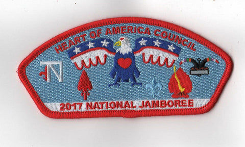 2017 National Scout Jamboree Heart of America Council Red Border JSP [C3152] - Scout Patch HQ