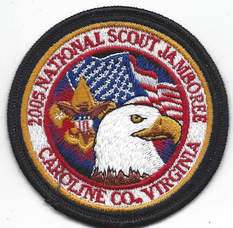 2005 National Scout Jamboree Black Border Patch Visitor Issue