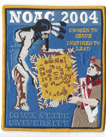 2004 National Order of the Arrow Conference NOAC Iowa State University Jacket Patch [IL166]