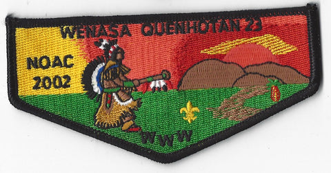 OA Lodge # 23 Wenasa Quenhotan 2002 NC Flap Black Border W. D. Boyce  [IL179]**