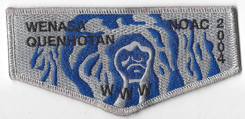 OA Lodge # 23 Wenasa Quenhotan 2004 NC Flap SMY Border W. D. Boyce Council