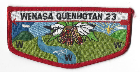 OA Lodge # 23 Wenasa Quenhotan Flap Red Border W. D. Boyce Council