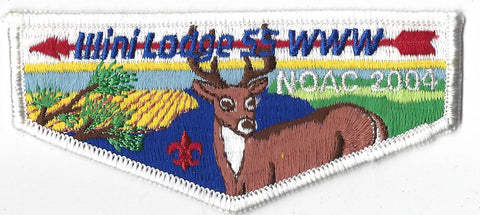 OA Lodge # 55 Illini Flap NC 2004 White Border Prairielands Council