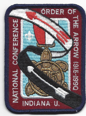 1990 NOAC Order of the Arrow 75th Anniversary Patch