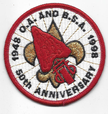1998 OA and BSA 50th Anniversary Patch