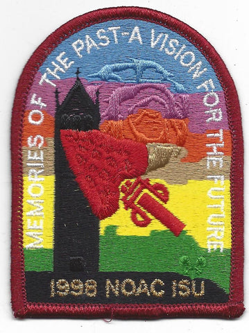 1998 National Order of the Arrow Conference NOAC Iowa State University Patch