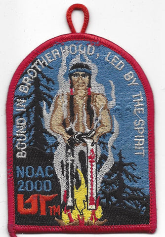 2000 National Order of the Arrow Conference NOAC Indiana University Patch with loop