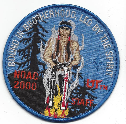 2000 National Order of the Arrow Conference NOAC Indiana University STAFF Patch