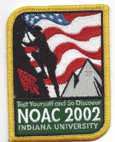2002 National Order of the Arrow Conference NOAC Indiana University Patch