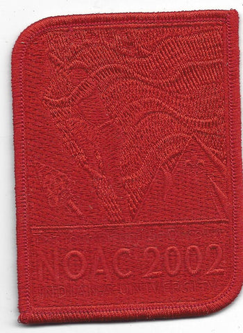 2002 National Order of the Arrow Conference NOAC Indiana University Red Ghost Patch
