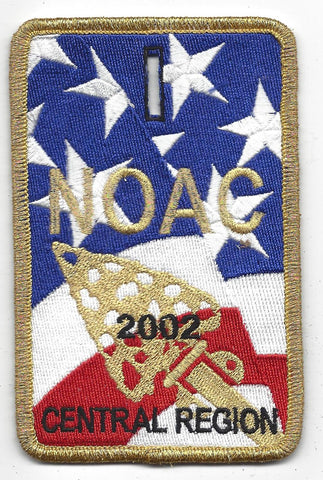 2002 National Order of the Arrow Conference NOAC Indiana University Central Region Patch
